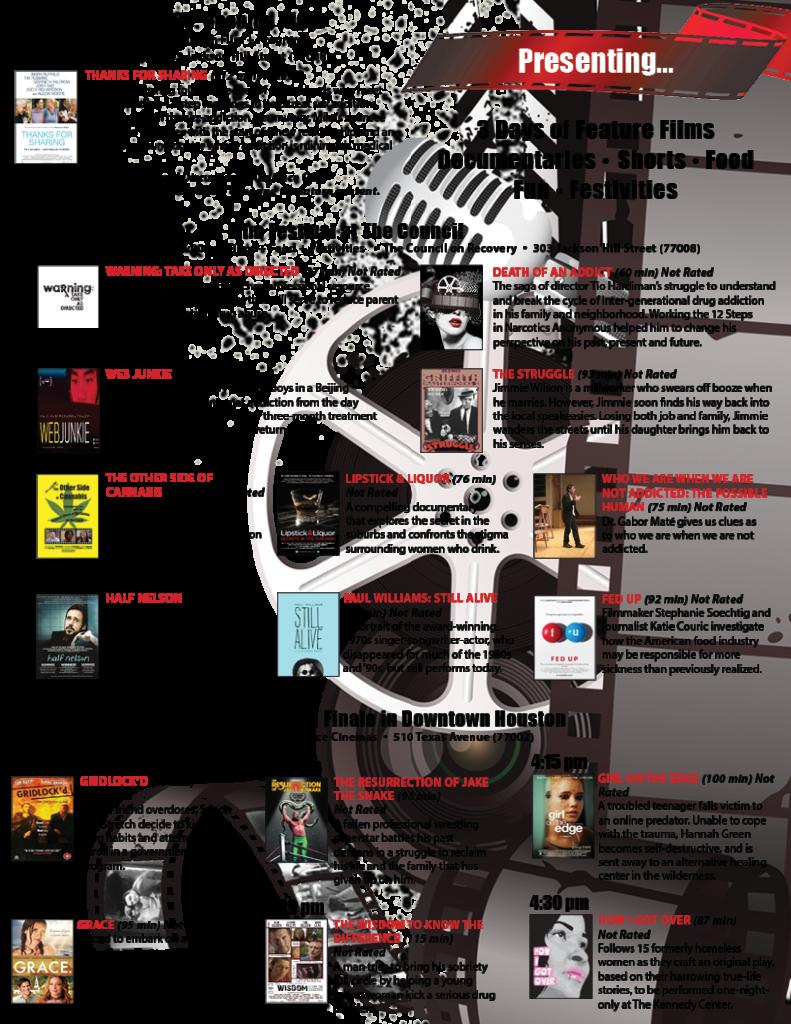 REEL Recovery Film Festival Flyer