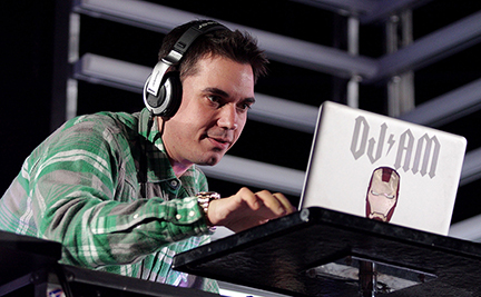IRVINE, CA - MAY 16: (FILE) DJ AM of TRVSDJAM performs at the KROQ Weenie Roast Y Fiesta 2009 at Verizon Wireless Amphitheater on May 16, 2009 in Irvine, California. According to reports on August 28, 2009, DJ AM, real name Adam Goldstein, was found dead in an apartment on Lafayette Street in New York City. (Photo by Noel Vasquez/Getty Images)